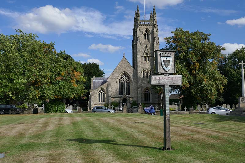 Northaw Village Green and Church